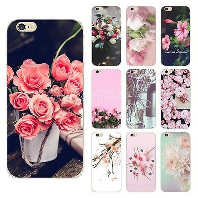 Pattern Rubber Soft TPU Silicone Phone Case Cover For Apple iPhone 5 6s 7 Plus