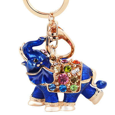 New Arrival Feng Shui Keychain Blue Elephant Protection Key Chains Best Gifts