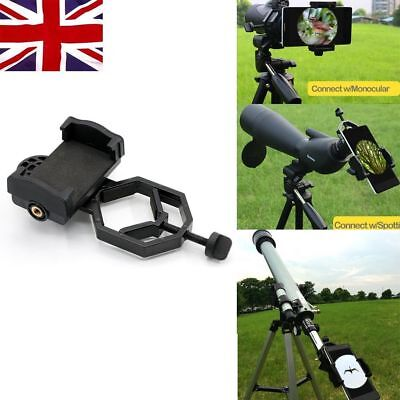 Telescope Cell Phone Adapter Mount Universal Microscope Spotting Scope UK Stock