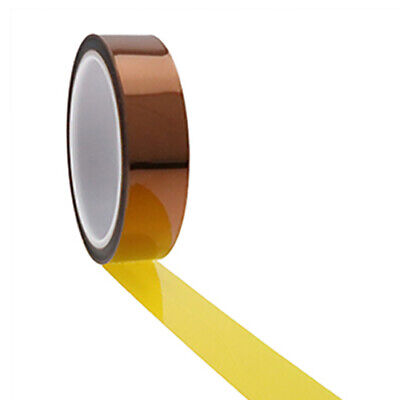Packs of 4: High Temp Polyimide Tape for Masking - 5,12.7,25.4&50mm - 33Mtr Long