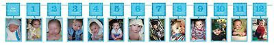 12ft 1st Birthday First 12 Months Photo Garland Banner Party Bunting Decorations
