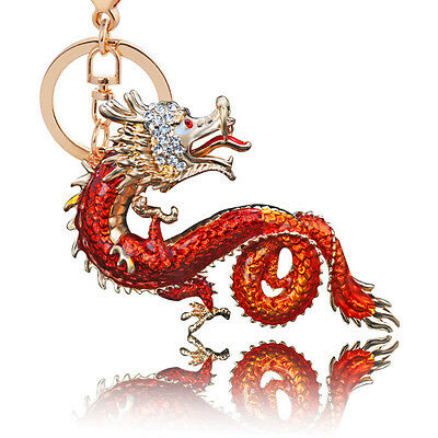 New Arrival Feng Shui Bejeweled Dragon Keychain Best Gifts for Friends Family