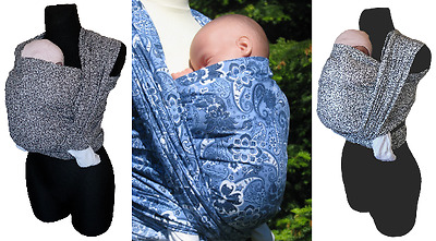 Paisley Oriental Black Original Baby Sling Woven 100% Cotton Wrap Carrier Birth