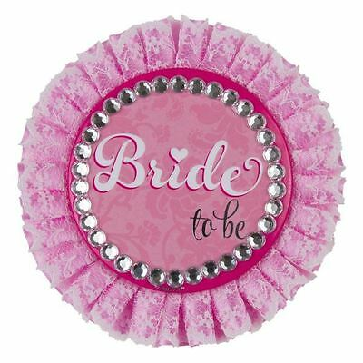 Bride to Be Deluxe Badge Large 11cm Accessories Hen Do Party Night