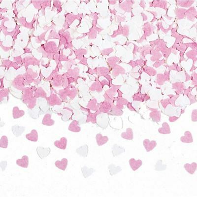 Pink & White Mini Paper Heart Confetti Valentines Wedding Party Table Sprinkles