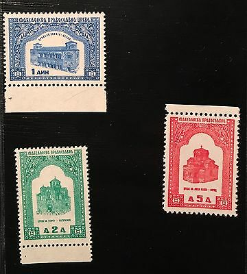 revenue stamp Macedonian Orthodox Church 3 pieces Macedonia (5.)