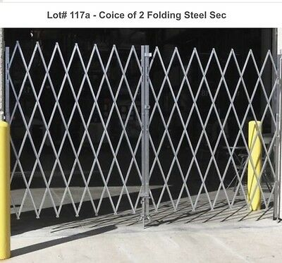 ULINE Products Steel Folding Security Gate Pair 8' TO 10' OPENING 6' HIGH