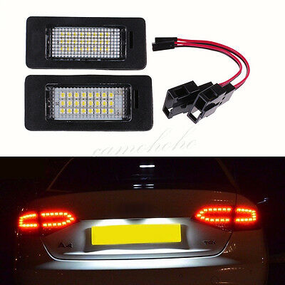 2x License Number Plate LED Light Lamp for Audi A4 B8 A5 Q5 Passat S5 Error Free