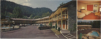 GATLINBURG, TN New Alpine Motel unposted 1960s wide multiview chrome