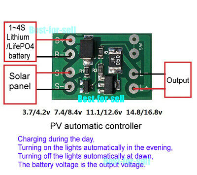 Solar Charge Controller Auto Light Control Switch Lithium Battery Charging Board