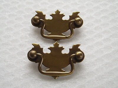 Vintage Brass Hardware Pulls/Drawer Handles - Set of 2