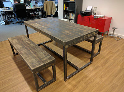 DIY 2x Handmade Bare Box Steel Furniture Table Seat Legs Industrial Chic Style