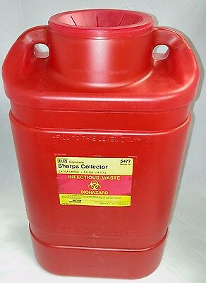 New Sharps Collector Extra Large 5 Gallon Funnel Top w/ Lid, BD5477