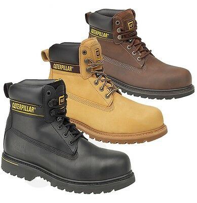 MENS Caterpillar CAT WIDE STEEL TOE CAP SAFETY WORK SHOES TRAINER BOOTS SZ 6-13