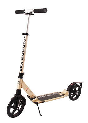 Adult iScoot X50 City Suspension Push Kick Scooter Folding Large 200mm - Gold Ne