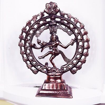 New Large Copper Plated Dancing Figure Shiva Natraj Statue Hindu NATARAJA