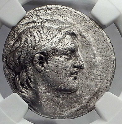DEMETRIOS I Soter SELEUKID Tetradrachm Ancient Silver Greek Coin NGC VF i59894