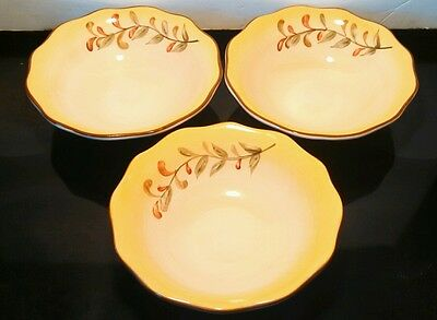 Set of 3 Better Homes & Gardens TUSCAN RETREAT Cereal Bowls