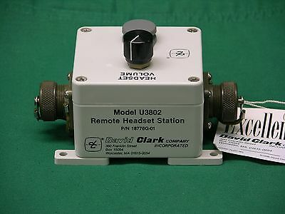 NEW! David Clark U3802 Remote Headset Station