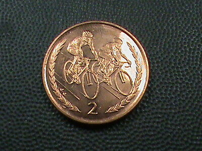 ISLE  of  MAN     2  Pence   1999  A A      BRILLIANT  UNCIRCULATED