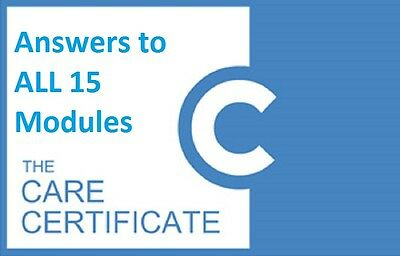 Care Certificate Answers ( Sent digitally to your verified Paypal Email address)