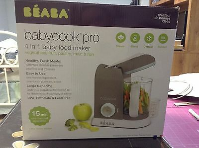 Beaba Baby cook Pro New In Opened Box Latte Mint