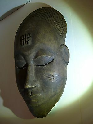 African Tribal Art, Baule wooden mask  - 12 inches.