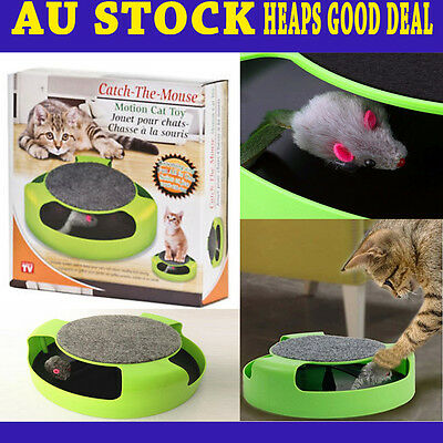 Catch The Mouse Kitten Cat Toy Chase Interactive Scratchpad Motion Training