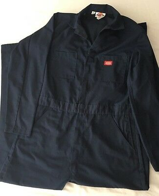 Dickies Coveralls Unlined Navy Blue 42 44 X-Tall Long Sleeve 33 Inseam