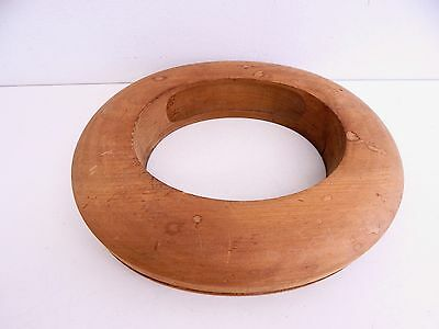 Antique Wood Millinery Hat Brim Form Mold Block Bowler Derby
