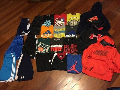Lot Of Boys Athletic Clothes(under Armour, Nike, Adidas)-size Medium