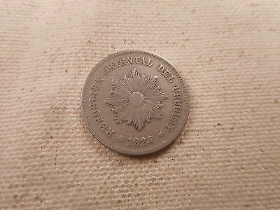 1924 Uruguay 5 Centesimos - Nice Collector Grade Album Type Coin - # 030128