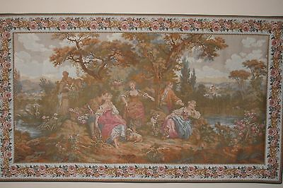 "Tapestry:  Les Amours Pastorales; #2608; 65"" x 37.5""; from France"