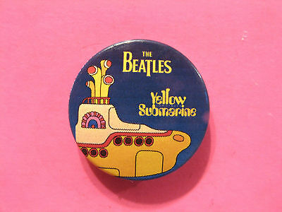"The Beatles New Official Button Badge Pin Uk Import ""yellow ....."""