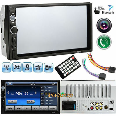 7 Inch HD Touch LCD 2-DIN In Dash Bluetooth Auto Car Stereo MP5 Player FM Radio