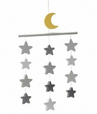 Little Love by NoJo Gray Stars Ceiling Mobile