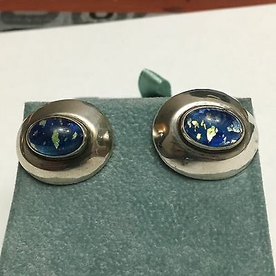 Vintage Mexico H F C Sterling Silver 925 Cufflinks