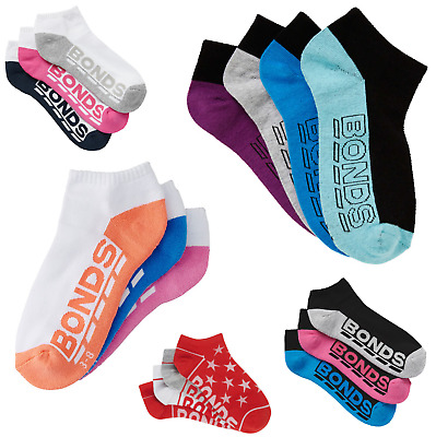 Cheap Womens Multi Pack :Bonds Low Cut Ankle Sports Socks - Assorted Colours!