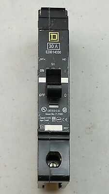 Square D Circuit Breaker Edb14030 1 Pole 30 Amp 277 V