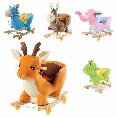 Baby Infant Kids Animal 5 Character Rockers With Rocking Nursery Rhymes cute