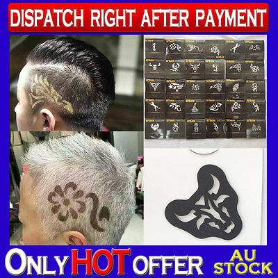 3 packs Hair Tattoo Stickers Mold Various Patterns Hair Color Tattoo Fashionable