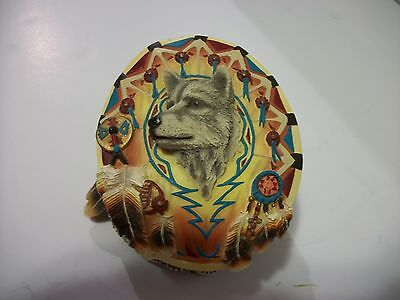 "THE HAMILTON COLLECTION SACRED KEEPSAKES ""SPIRIT OF THE HUNT"" WOLF Keepsake Box"