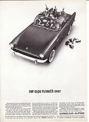 Original Print Ad-1962 SUNBEAM ALPINE-our cup runneth over-car full of trophies