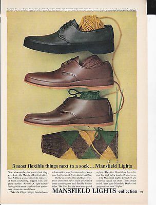 Original Print Ad-1962 3 most flexible things next to a sock…Mansfield Lights