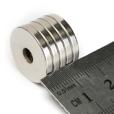 5-50pcs N50 Strong Round Ring 5mm Hole  Magnets Rare Earth Neodymium 20 x 3mm US