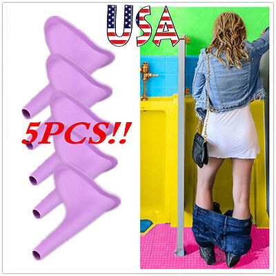 5pc Lady Girls Urination Urine Device Portable Travel Outdoors Funnel Toliet USA