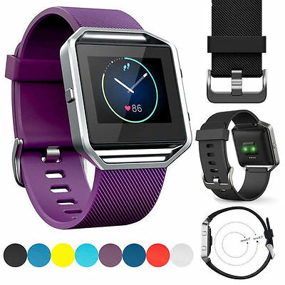 Silicone Wrist Band Strap Bracelet Watchband Replacement for Fitbit Blaze Watch