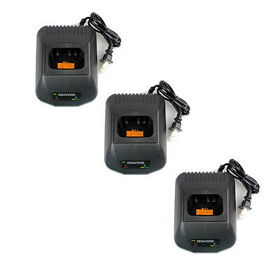 3X Battery Charger for Kenwood TK2207/2307/3201/3207 TK -3207G/3202P Radio+Track