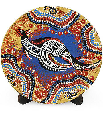 Wooden Aboriginal Art Plate