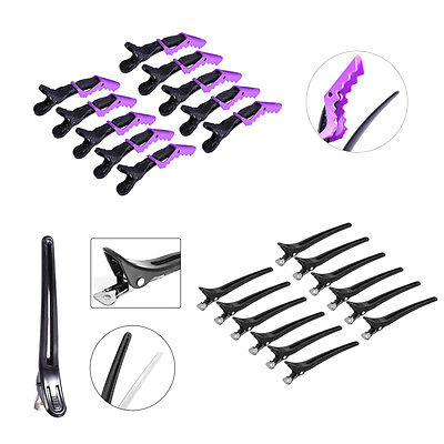 10/12 PCS Duck Hair Sectioning Clips Hairdressing Alligator Barber Hairpins JS